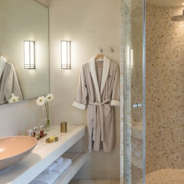 Euphoria Junior Suite Bathroom with Mosaics Shower and Marble Details